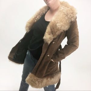 Vintage Leathercraft 70's leather suede fur jacket